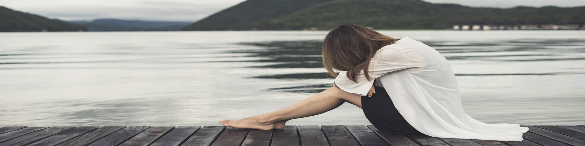 woman on jetty